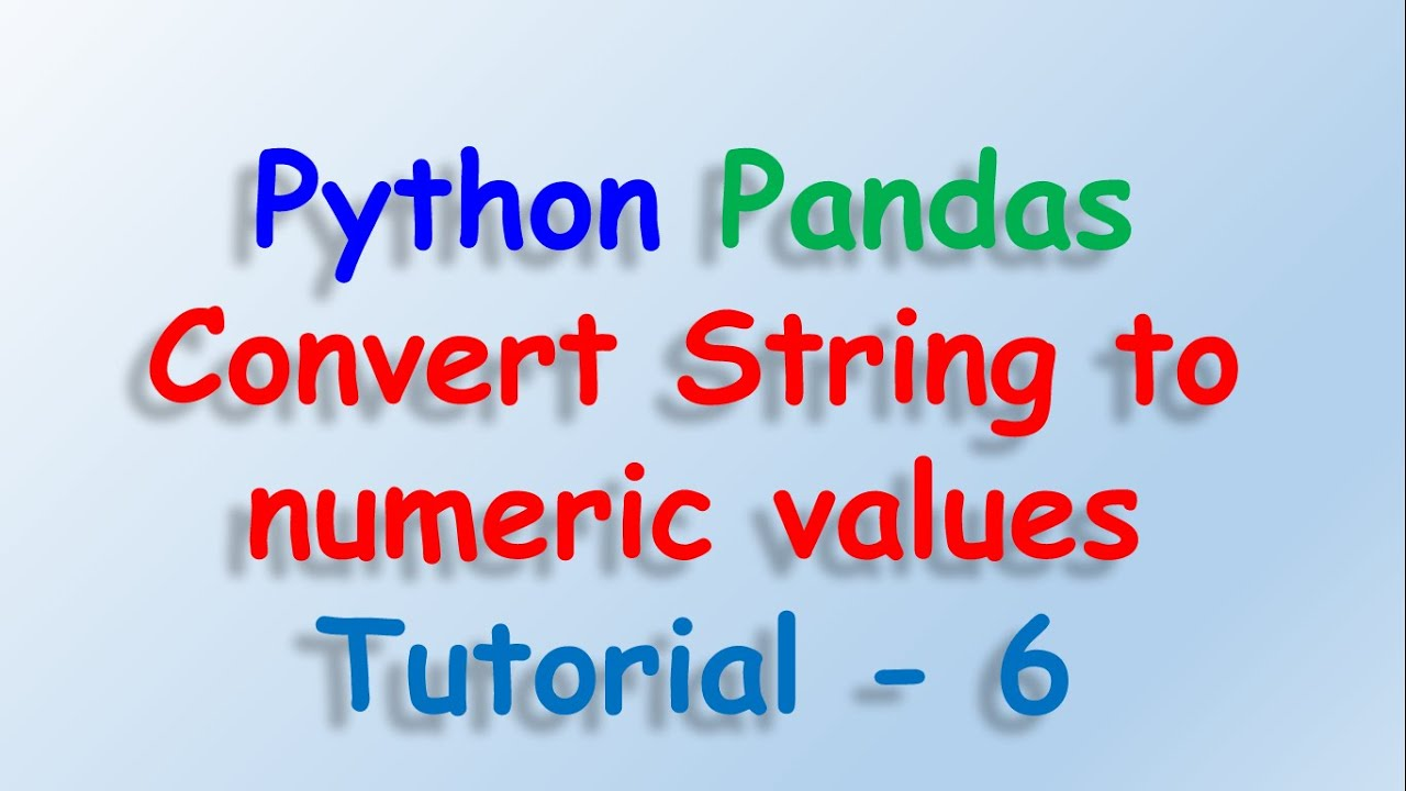 Data analysis with python and Pandas - Convert String Category to Numeric  Values Tutorial 6