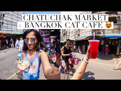 Chatuchak Weekend Market + Cat Café | Bangkok Travel Vlog // Magali Vaz
