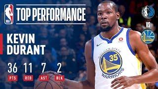 Kevin Durant Puts Up 36 pts, 11 rebs, 7asts vs Dallas Mavericks