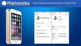 How to delete all contacts on iPhone.