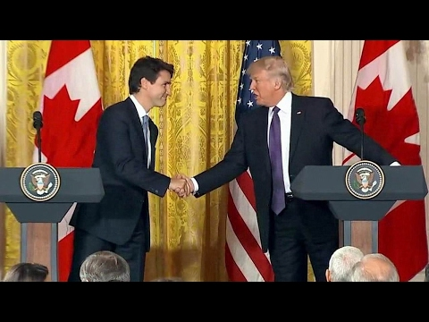 Thumbnail: FULL President Donald Trump and Canadian PM Justin Trudeau. Joint News Conference. Feb. 13. 2017.