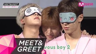 [MEET&GREET] SO CUTE! MONSTA X guessing items with their cheeks