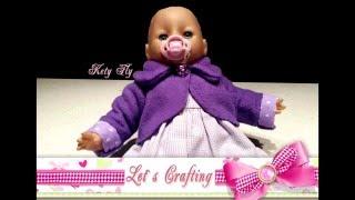 Как сшить болеро для куклы - How to make a stylish coat for your doll!(У каждой девочки есть любимая игрушка. Моя доча любит брать на прогулку куклу с коляской. Но у нас уже холодн..., 2015-12-07T18:09:06.000Z)