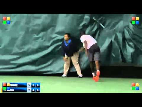darian king gets disqualified at the charlottesville challenger after a bizarre incident