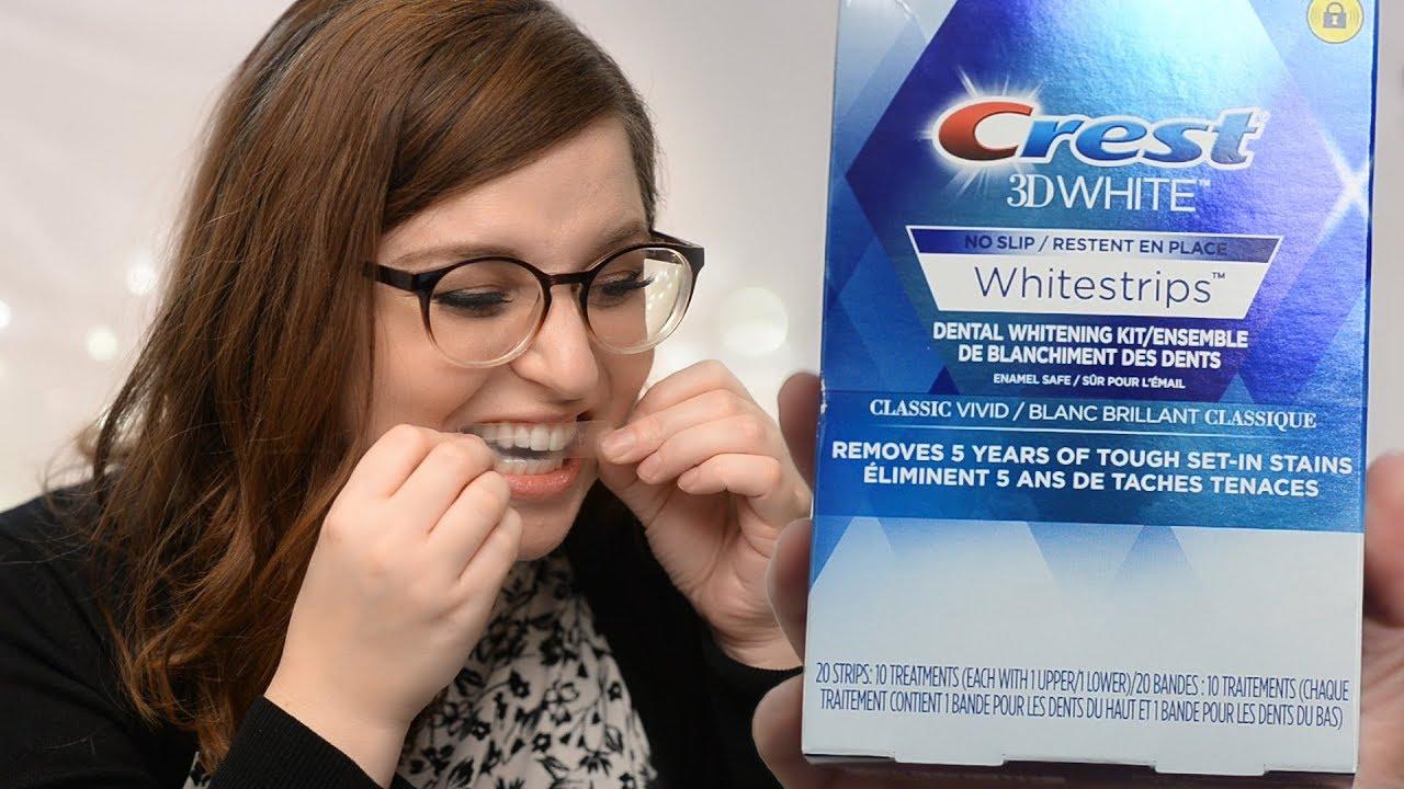 Crest 3d White Whitestrips Classic Vivid Teeth Whitening Kit Demo
