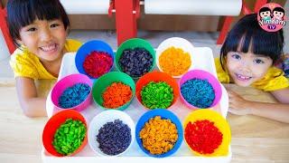 หนูยิ้มหนูแย้ม   ย้อมสีมักกะโรนี Kids Activities