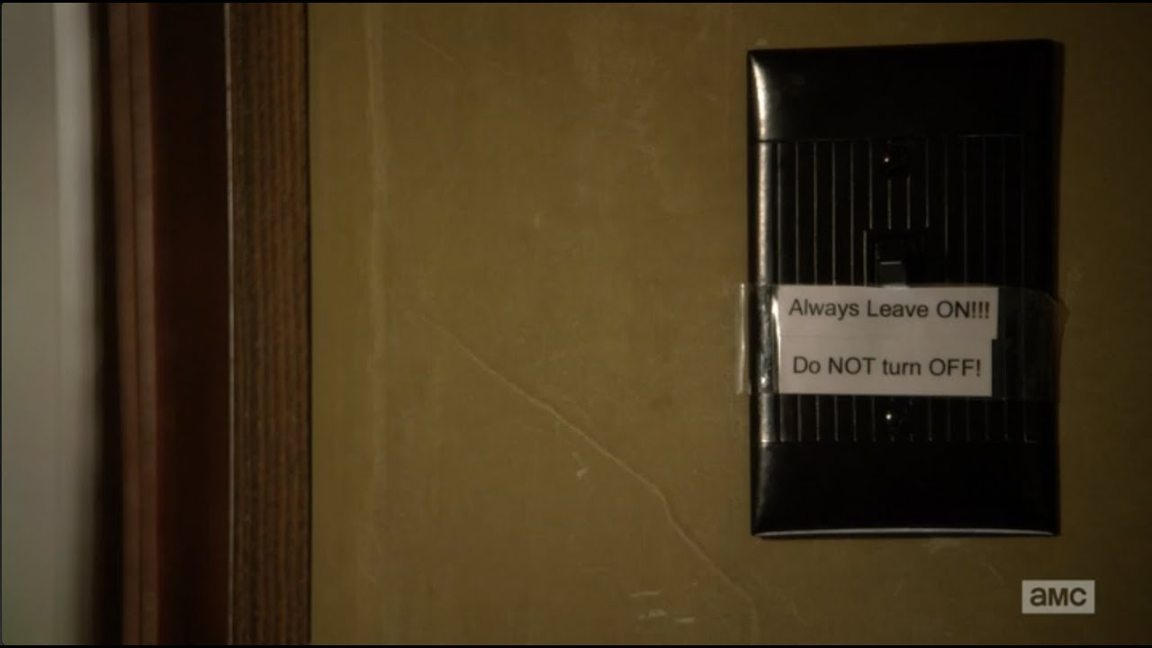 Do You Turn Salt Lamps Off : Better Call Saul Light Switch - YouTube