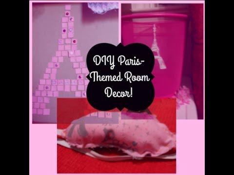 DIY Paris-Themed Room Decor!! PARIS WALL ART, DIY SLEEP MASK and ...