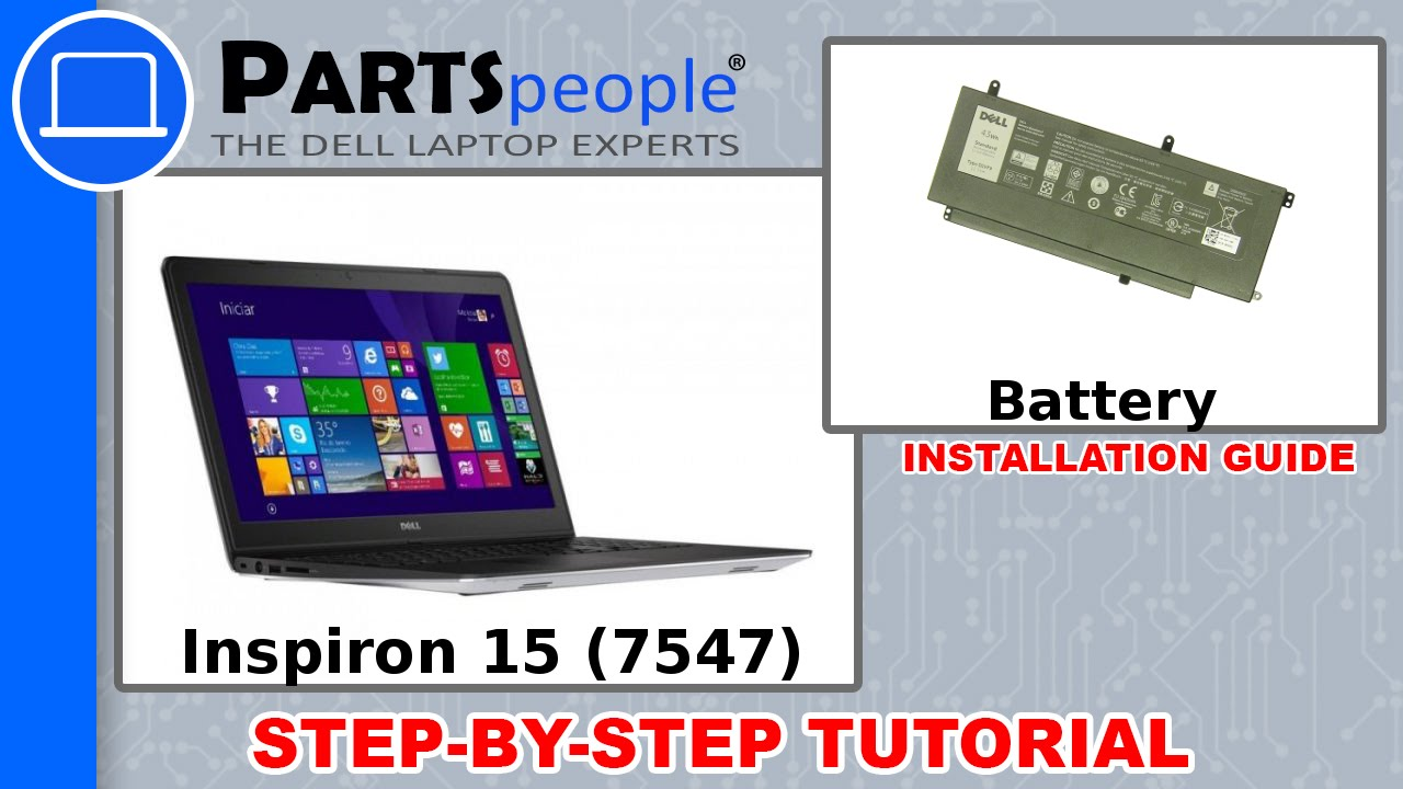 Dell Inspiron 15 (7547) Battery How-To Video Tutorial - YouTube