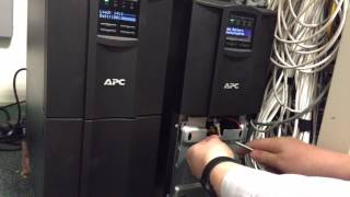 APC Smart-UPS 3000 LCD Hot Swap Battery(Hot swapping the batteries in the APC Smart 3000i UPS isn't difficult. Simply open the lower front panel, unplug the first battery and remove, then the second and ..., 2016-06-17T07:57:24.000Z)