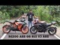 R15  V3 vs KTM RC200 ABS.