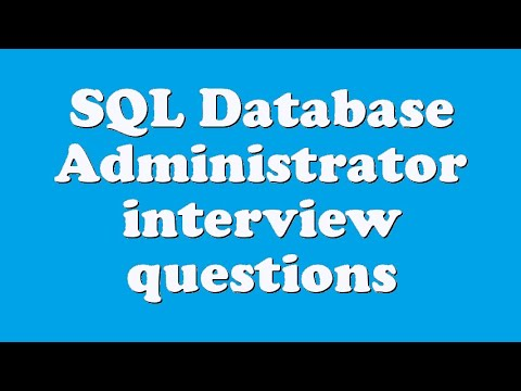 database administrator interview questions