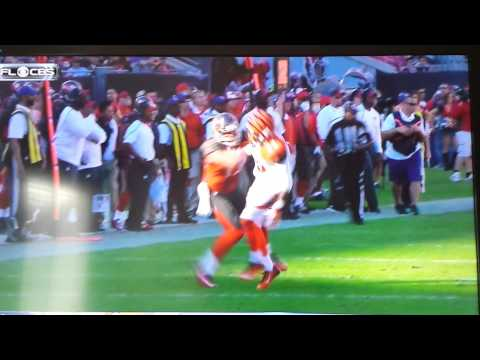 Embarrassed! Bucs Mike Evans Blocks Bengals Terence Newman 2014
