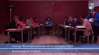 Concejo municipal miércoles 06 noviembre 2019 (parte 1)