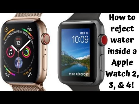 How to eject water from a Apple Watch 2, 3, & 4 (How to do technology)