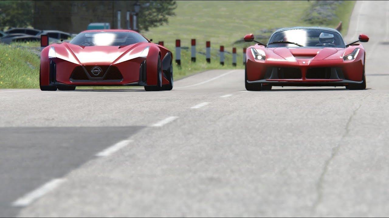 Nissan Concept 2020 Vision GT vs Ferrari SF90 Stradale at Monza Full Course