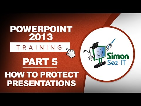 PowerPoint 2013 for Beginners Part 5: Protect Your Presentation and Edit Properties