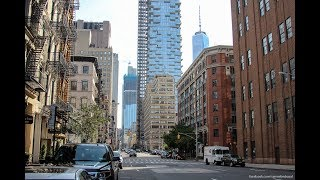 Натяжной потолок 3д здания Нью-Йорка