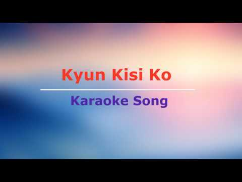 Hindi Karaoke Song || Kyun Kisi Ko || Tere Naam || Udit Narayan || Lyrics Below