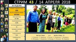 Семья Савченко. Стрим 43 (14 апреля 2018) Ответы на вопросы друзей и подписчиков.