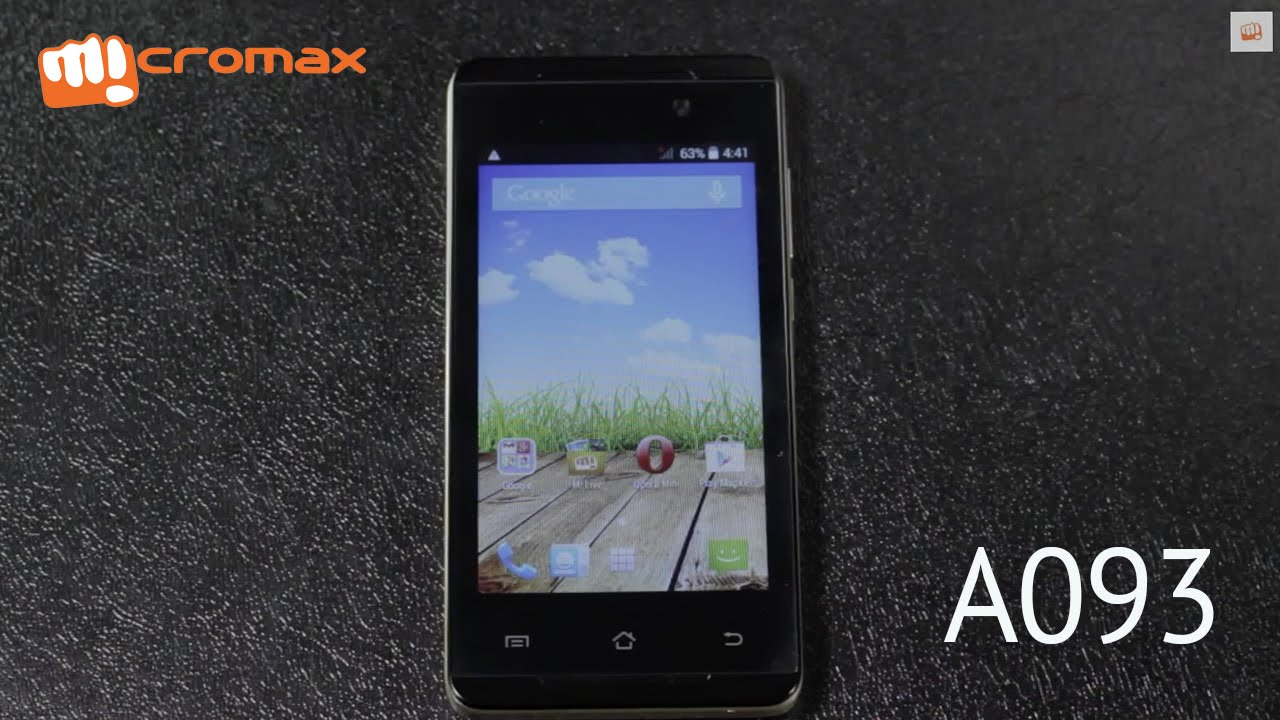 Micromax Canvas Fire A093 Unboxing - YouTube