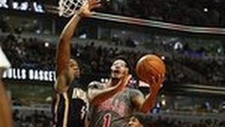 Paul George, Derrick Rose Duel in Chicago