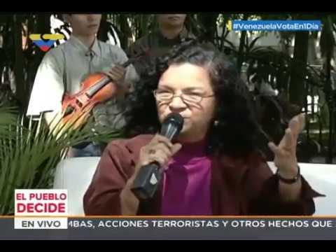 Ministra Alejandrina Reyes llama a votar este 30-J y defender logros culturales de la revolución