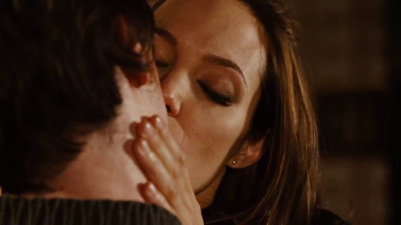 Angelina Jolie Hot Kissing Scene