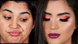 SI YO PUEDO MAQUILLARME ASI TU TAMBIEN PUEDES - tutorial de maquillaje PASO A PASO DE NAVIDAD 2017