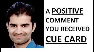 IELTS Cue Card Describe a positive comment you received