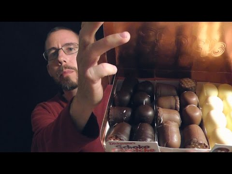 ASMR Whispered Candy Tasting / Review - Assorted Chocolates + Gummy Bears from Germany