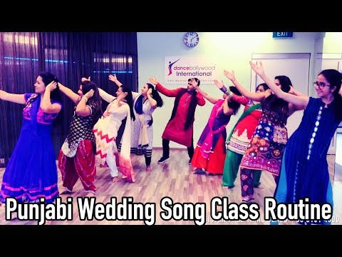 Punjabi Wedding song Completion I Basic Class Routine I Dance Bollywood International .