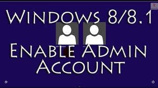 Enable the Built in Administrator Account in Windows 8 / 8.1(Enable the Built in Administrator Account in Windows 8 / 8.1 In this Windows 8 / 8.1 tutorial I demonstrate how to enable or disable the built in administrator ..., 2014-04-03T18:02:03.000Z)