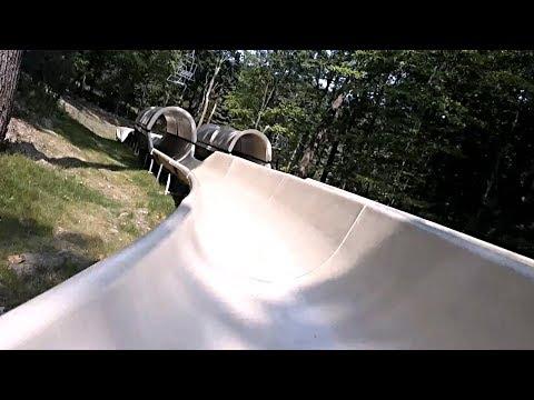Pocono Pipeline Mountain Slide (POV) - Camelback Mountain Adventures