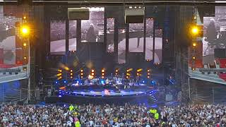 Billy joel - glory glory man united/my life (opening) [live manchester old trafford football ground]