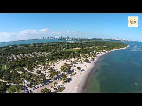 Sunday afternoon flight over Key Biscayne Island, Florida!