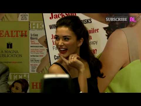 UNCUT |  Amy Jackson On Cover Page Of Health Magazine Of Winter Issue