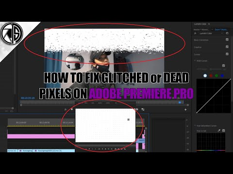 How to fix white glitching pixels or dead pixels on Adobe Premiere Pro