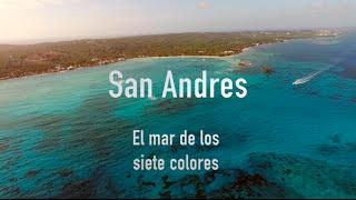 La isla de San Andres , Colombia , best aerial view