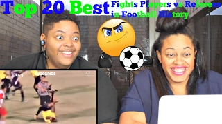 Top 20 best fights players vs referees in football history reaction!!!