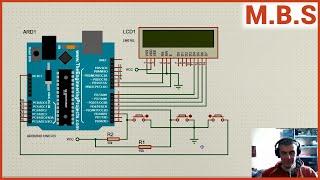Протеус 8 симуляция таймера - секундомера на Arduino Uno. Статья в описании