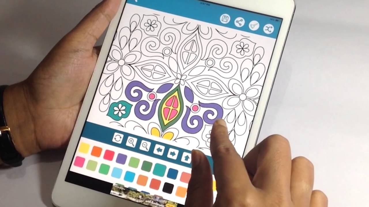 Color therapy anti stress coloring book app - Stress Relief Coloring Book For Adults App Promo Video