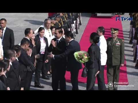 Arrival of Thai Prime Minister General Prayut Chan-o-cha 4/28/2017