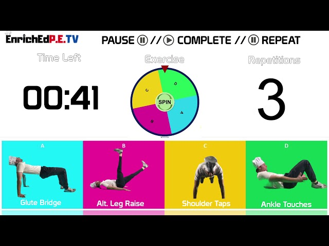 PE Chef S10E7: Fitness Spinner // Round #7