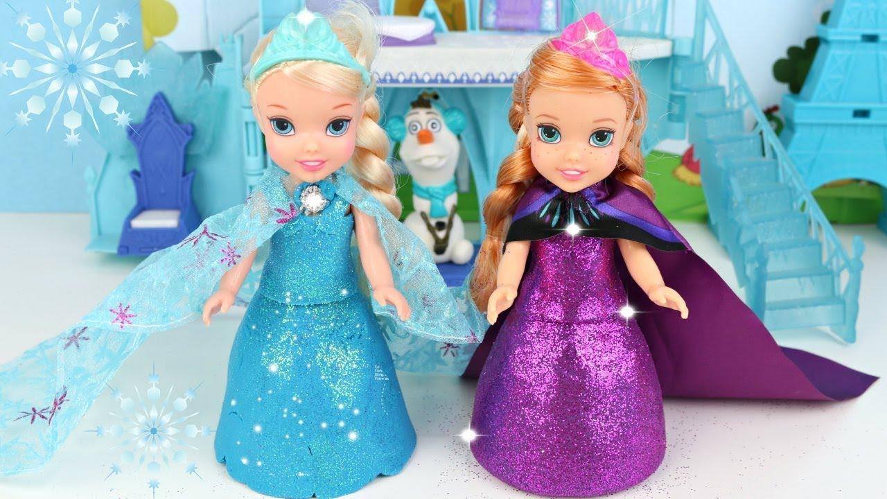 Elsa E Anna Frozen Playdoh Sparkle Vestido De Massinha Super Glitter Playtoykids