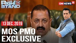 MoS PMO Jitendra Singh Opens Up On Citizenship Debate | The Right Stand With Anand Narasimhan
