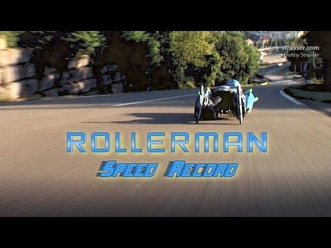 Rollerman Speed Record 126 kph!