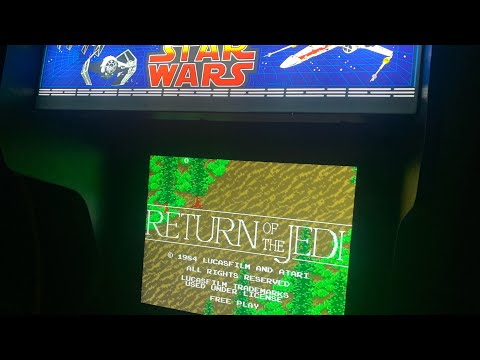 RETURN OF THE JEDI - CHASING THAT HIGH SCORE!  Star Wars Arcade1up from The 3rd Floor Arcade with Jason