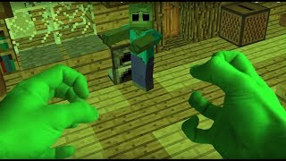 Monster School : Fighting HULK Zombie and Villager Life - Minecraft Animation