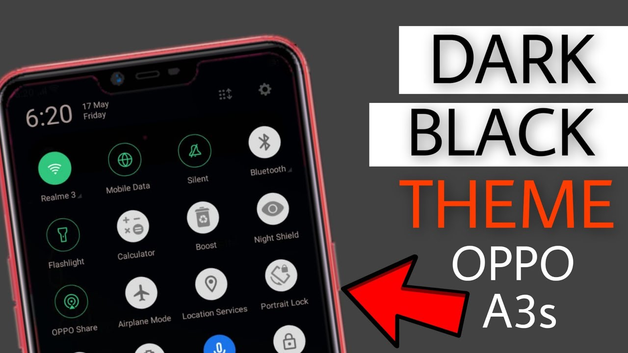 Install Dark Black OnePlus Theme On Oppo A3s | Oppo A3s OnePlus Dark Theme  | Faisal Alam Official